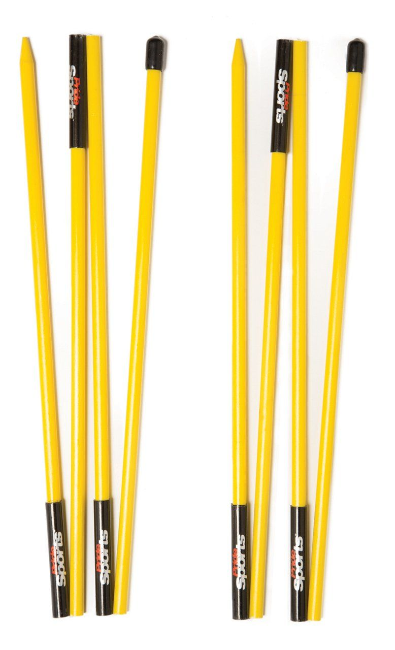 PrideSports Golf Alignment Stick (Set of 2), Yellow (With