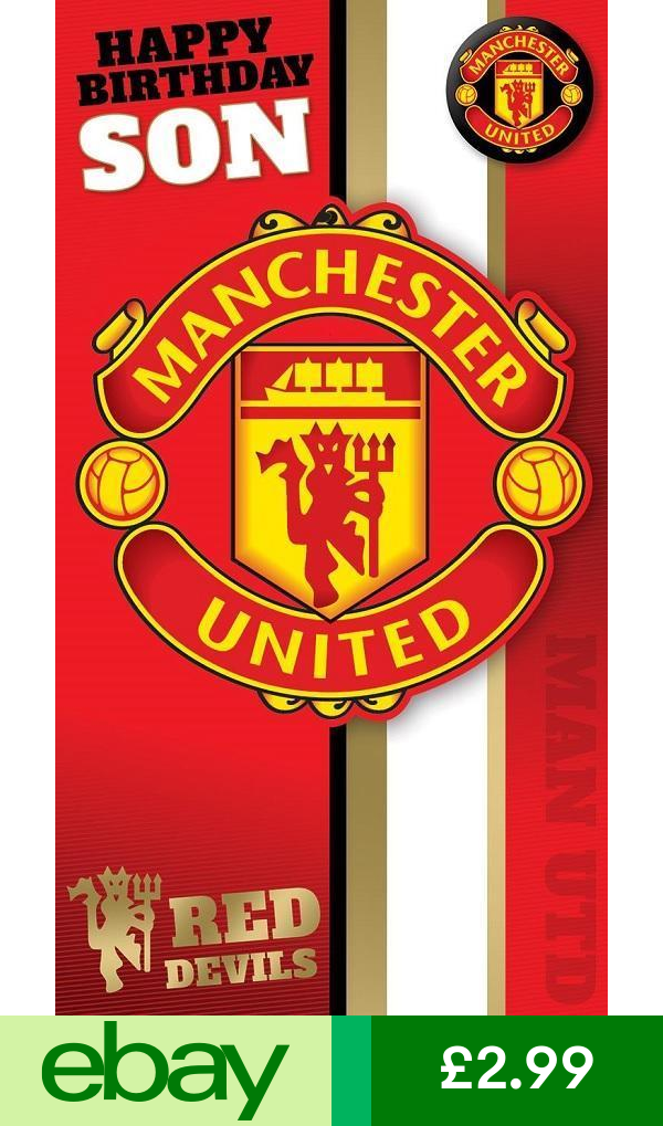 Manchester United Cards Stationery Home Furniture Diy Birthday Cards For Brother Manchester United Manchester United Logo