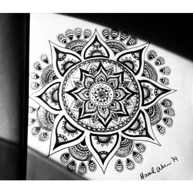 drawing mandalas gives me peace of mind