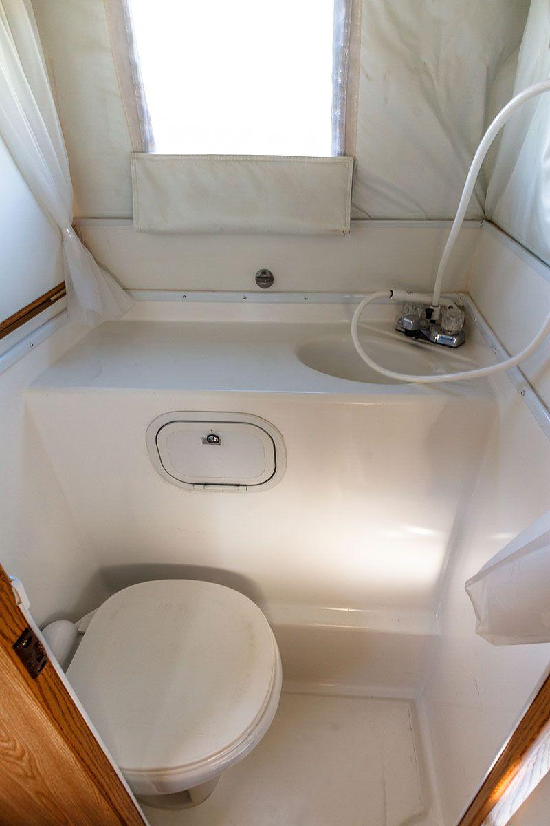 Truck Camping On The Edge Slide In Camper Camper Interior