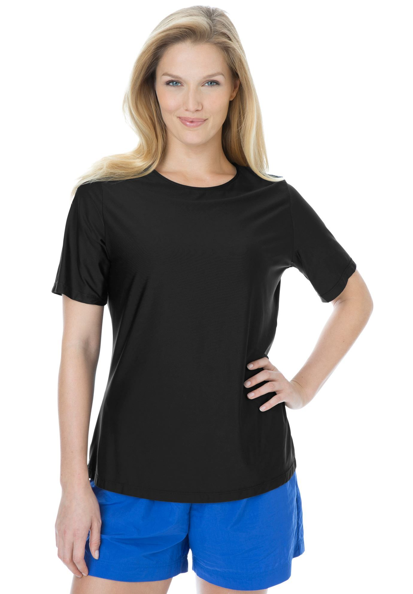 Plus Size Swim Tshirt coverup for sun protection 29.99