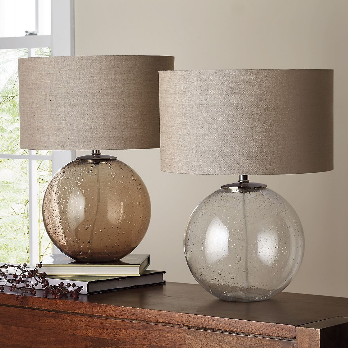 Reese Table Lamp   Inspired By Vintage Seeded Glass, Skilled Artisans Imbue  This Table Lamp