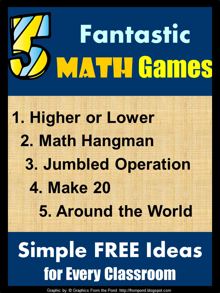 I love using math games in the classroom, especially those