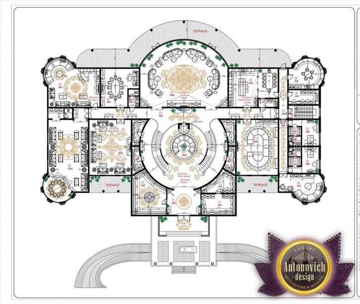 Luxury House Plan 5 By Antonovich Designs Floor Plan Design Luxury House Designs Luxury Floor Plans