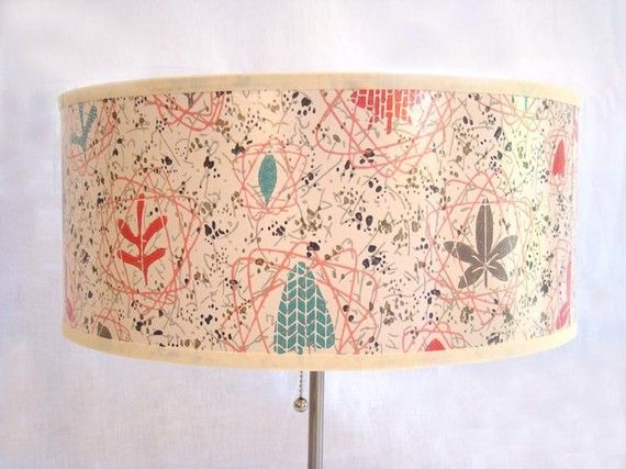 I want this to replace the shade on my current floor lamp drum i want this to replace the shade on my current floor lamp drum shade 1950s vintage wallpaper mid century atomic by fondue 9000 aloadofball Choice Image