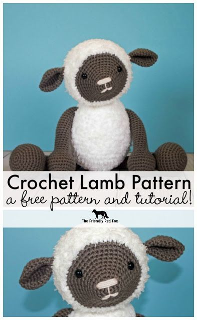 50fa8f9bef5c Free Crochet Pattern for Crochet Lamb! About 10 inches tall and sweet as  can be!