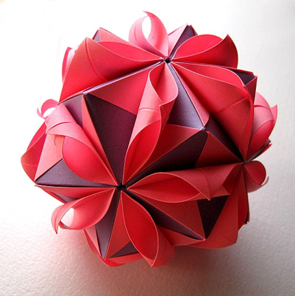 Origami Flower Ball Paper Crafts Pinterest Flower Ball