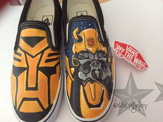 ade1e37c87 Adult Vans Brand Custom hand painted Transformers by DaisyGirlJoy Painted  Vans
