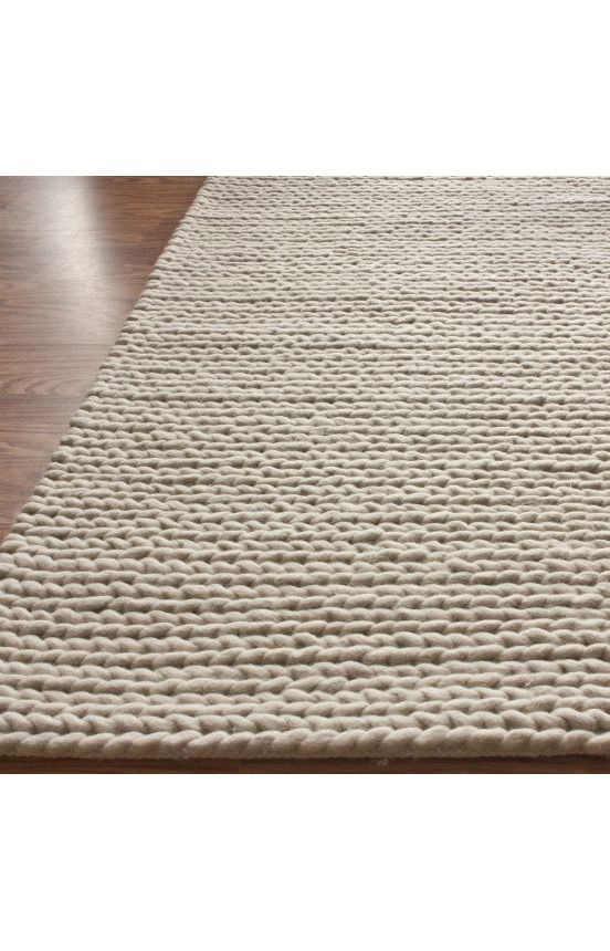 Textures Braided Off White Rug Knit Rug Nuloom Contemporary Rugs
