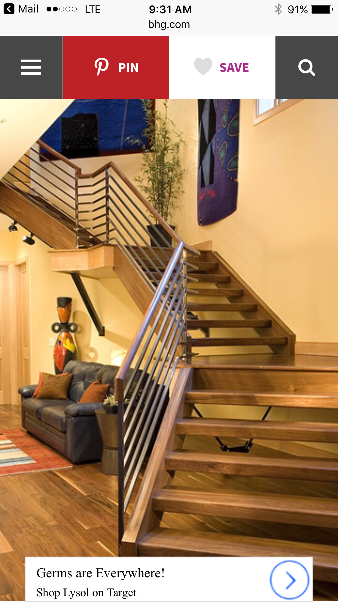 Really cool stairs leading to the basement