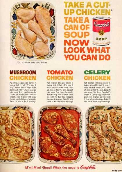 if you are what you ate then i am about 1 6 condensed cream of mushroom soup campbells ad 1962 food retro cooking pinterest mushroom soup