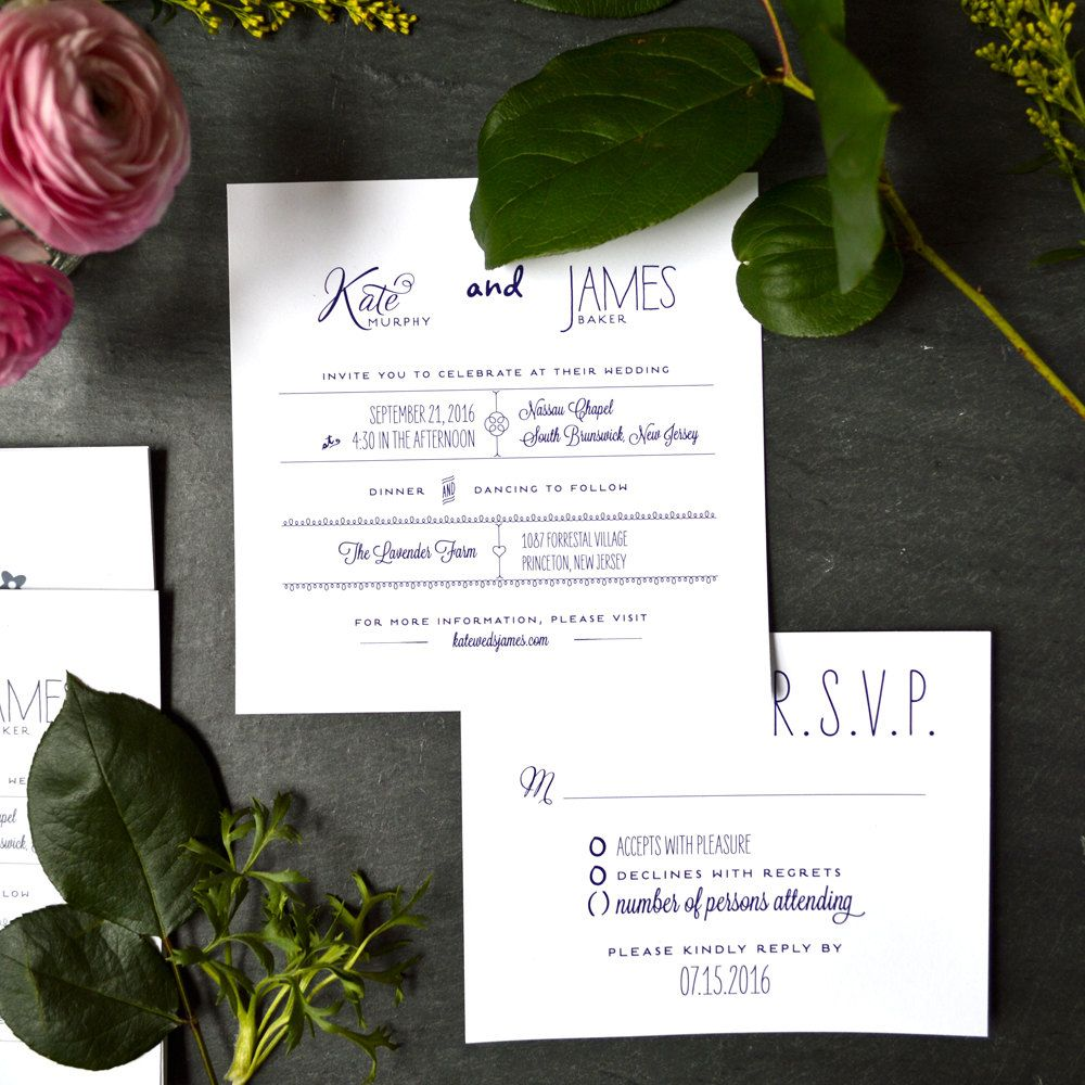 Matching Types Wedding Invitations Recycled Paper by fushan159 ...