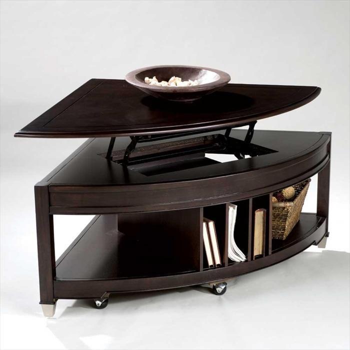 wedge shaped lift top coffee table nebraska furniture mart