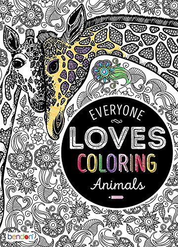 Adult Coloring Book Everyone Loves Animals