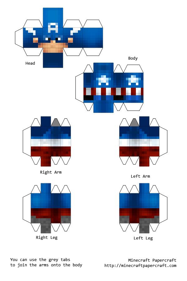 Mindcraft Captain America | Mindcraft Bday | Pinterest ...  Mindcraft Capta...