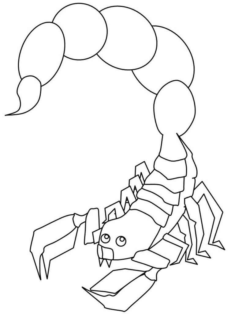 Free Printable Scorpion Coloring Pages For Kids Animal Coloring Pages Coloring Pages To Print Coloring Pages For Kids