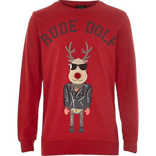 rude christmas jumpers ideas naughty christmas sweaters rudolf ...