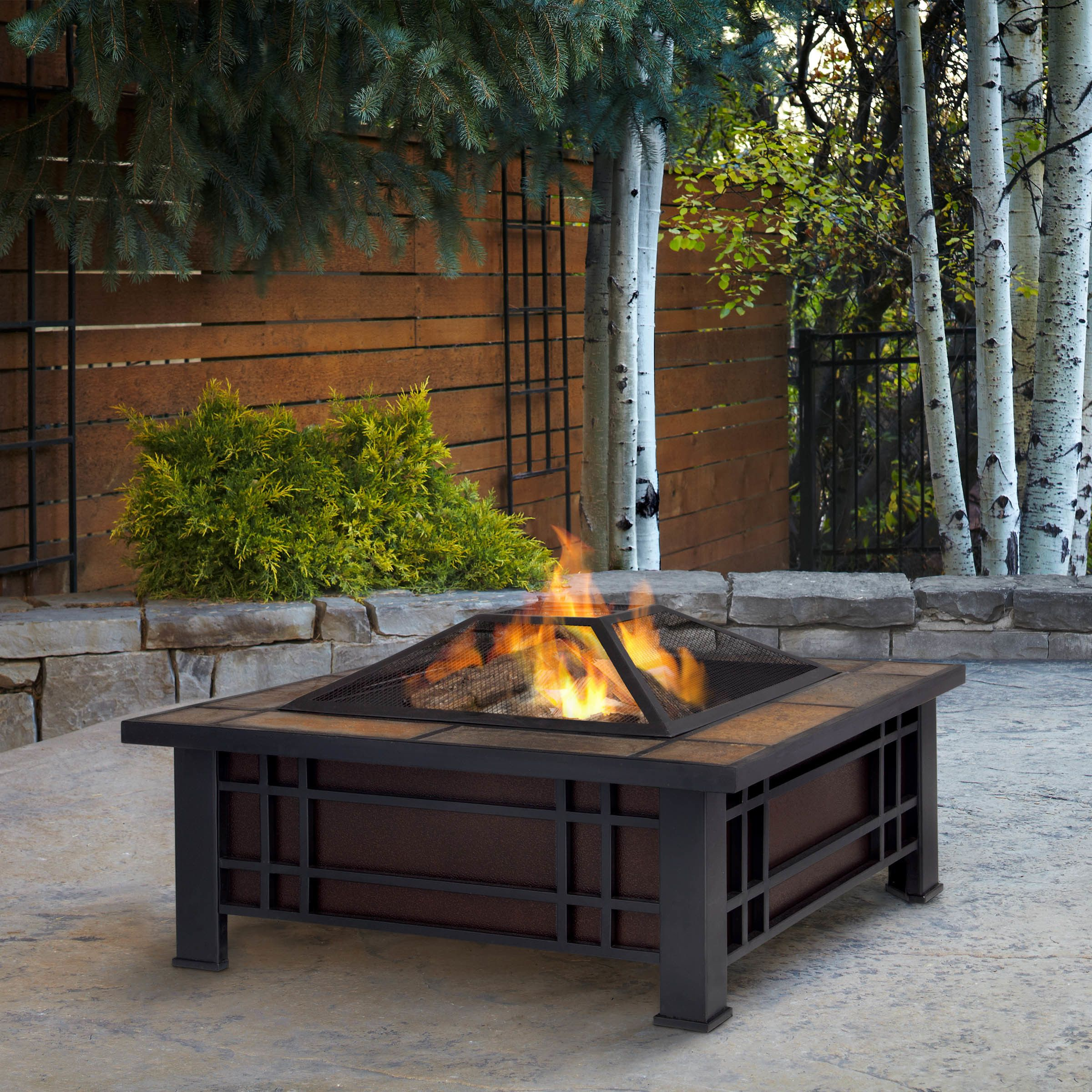 real flame morrison wood burning fire pit table for the house