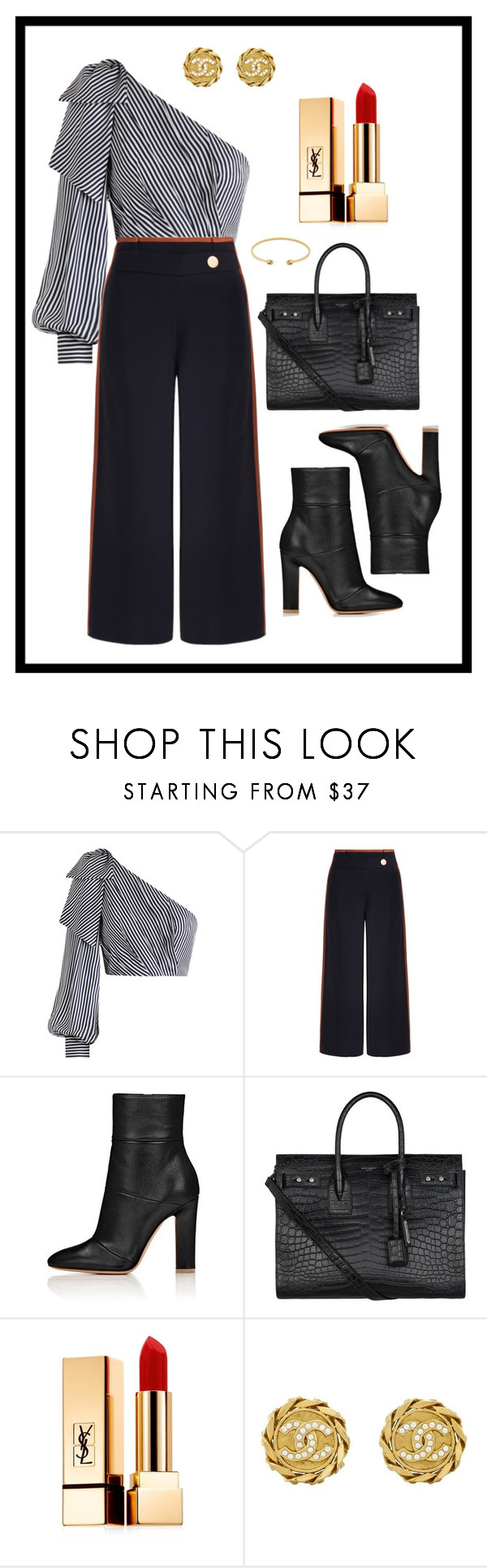 """""""Inverted Triangle Shape- Classic"""" by jess-thomas14 on Polyvore featuring Zimmermann, Peter Pilotto, Yves Saint Laurent, Chanel and Gucci"""