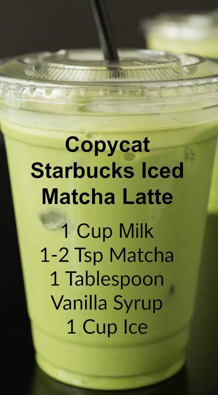 Nachahmer Starbucks Iced Matcha Latte #healthystarbucksdrinks