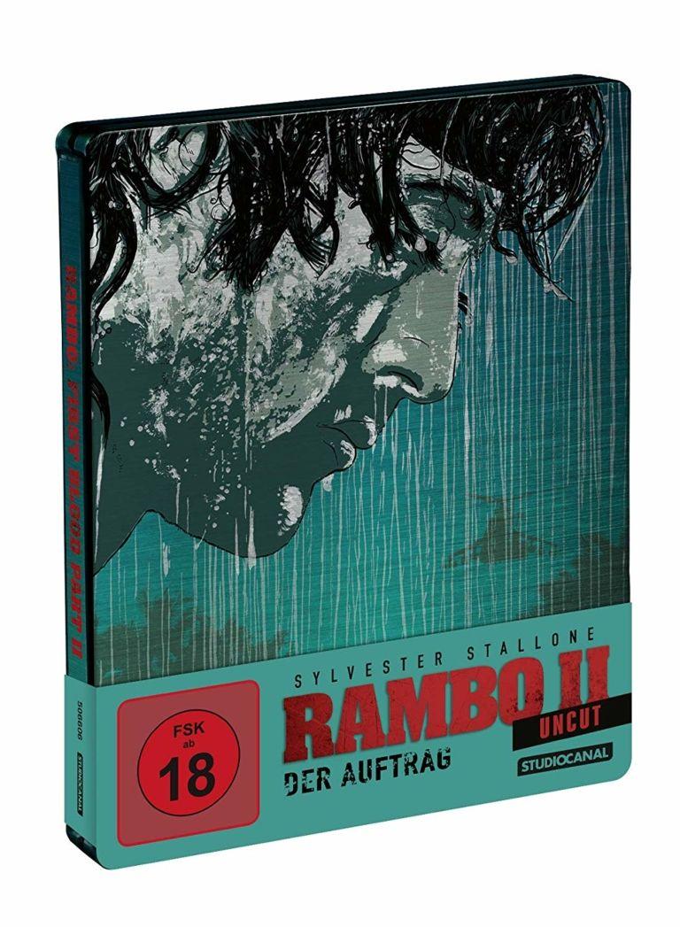 Rambo Ii Der Auftrag Steelbook Ultra Hd Blu Ray 4k Blu Ray Disc Blu Ray Sylvester Stallone Edition