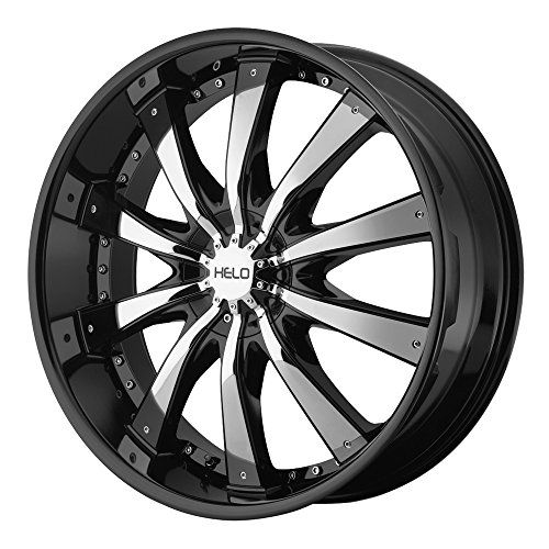 Helo He875 Gloss Black Wheel With Removable Chrome Accent Http Www Amazon Com Dp B00a8pemgu Ref Cm Sw R Pi D Helo Wheels Black Wheels Car Wheels