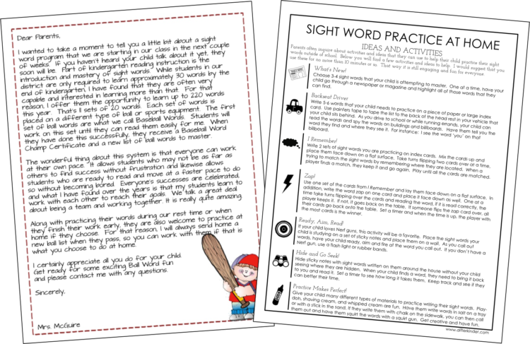 Sight Word Questions Answered and a Parent Freebie