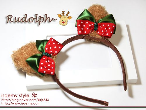 리본공예 크리스마스리본머리띠만들기 Band Accessories