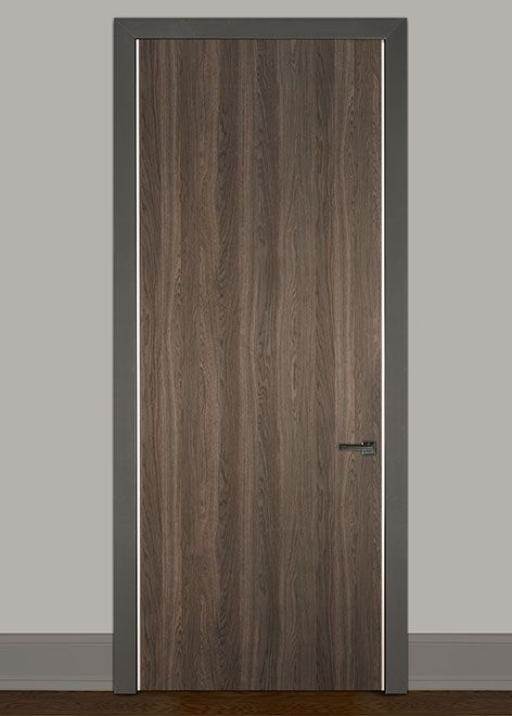 Latest Modern Newmann 3366 Solid Wood Front Entry Door Single DBIM HG1000 New Design - Contemporary Real Wood Doors Picture