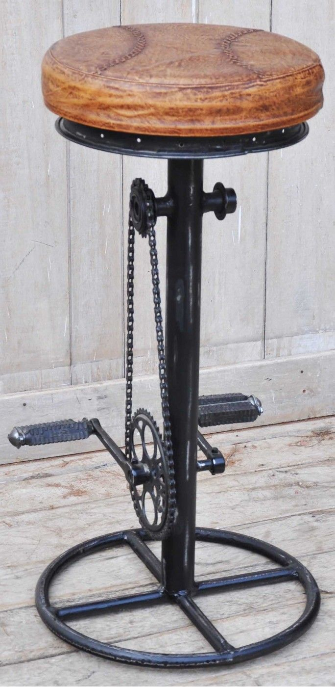 Industrial Bicycle Bar Stool