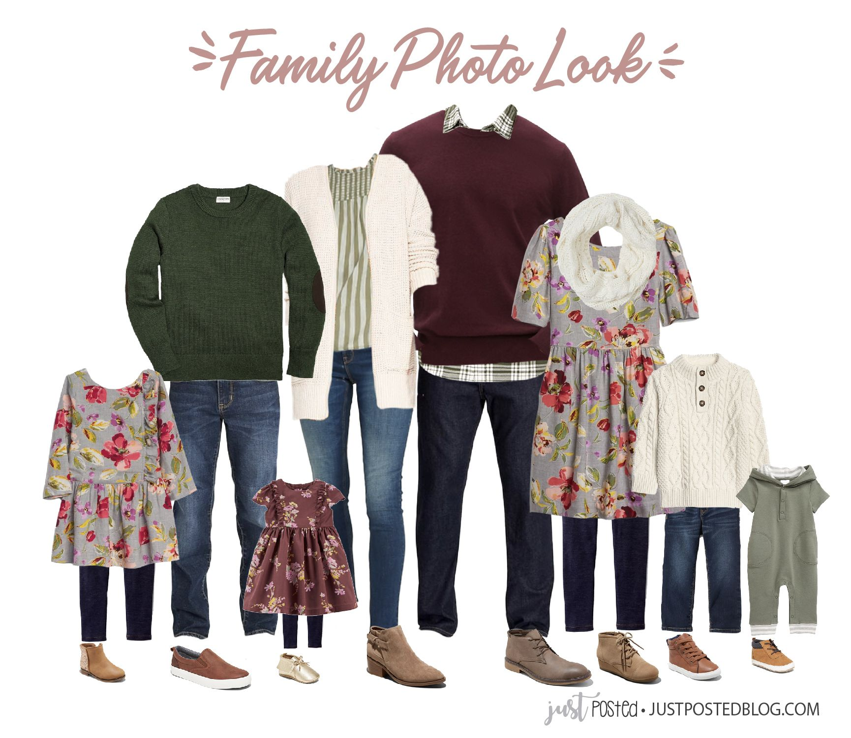 Green Color Schemes For Family Pictures