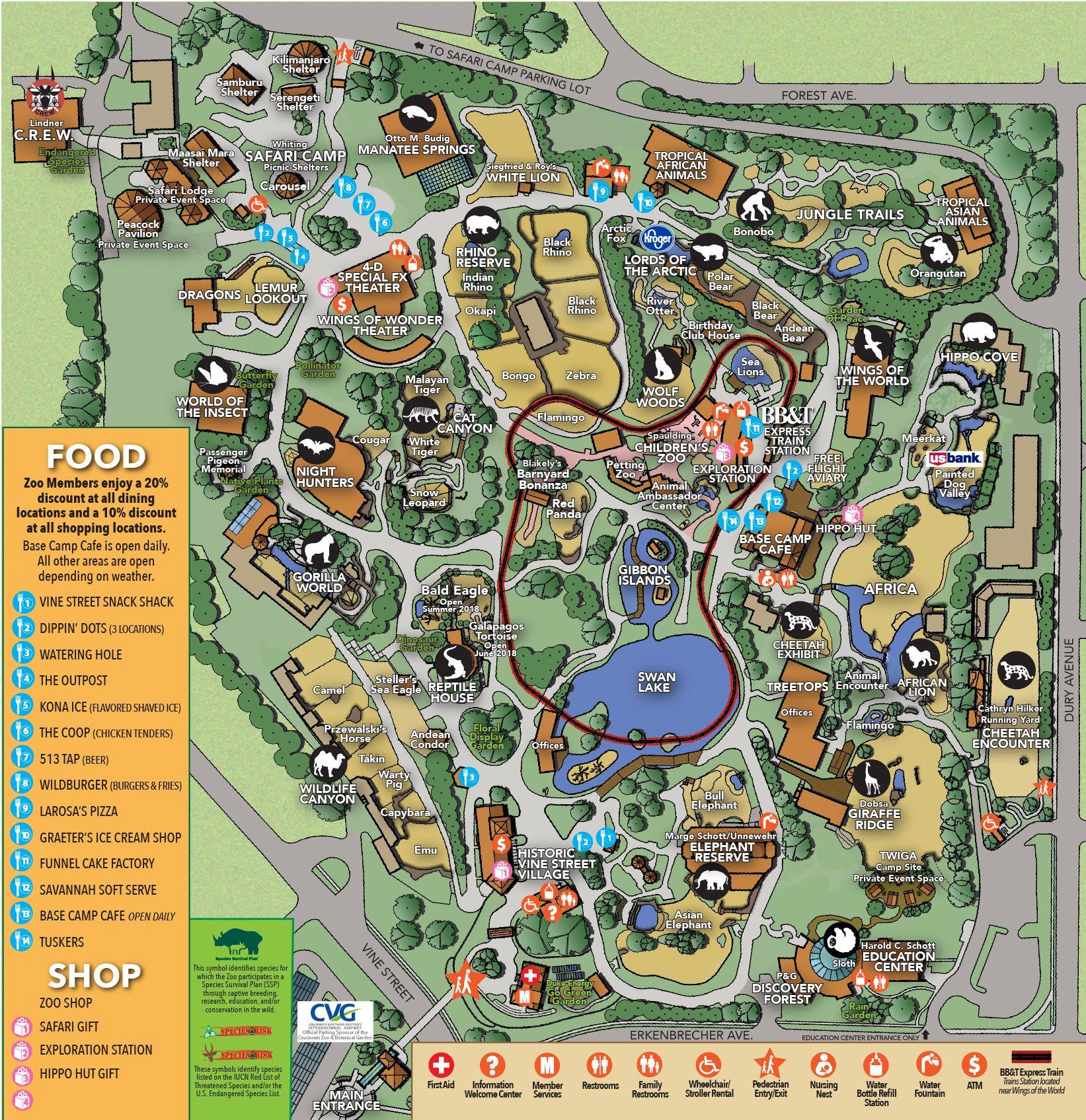 Hours Directions The Cincinnati Zoo Botanical Garden