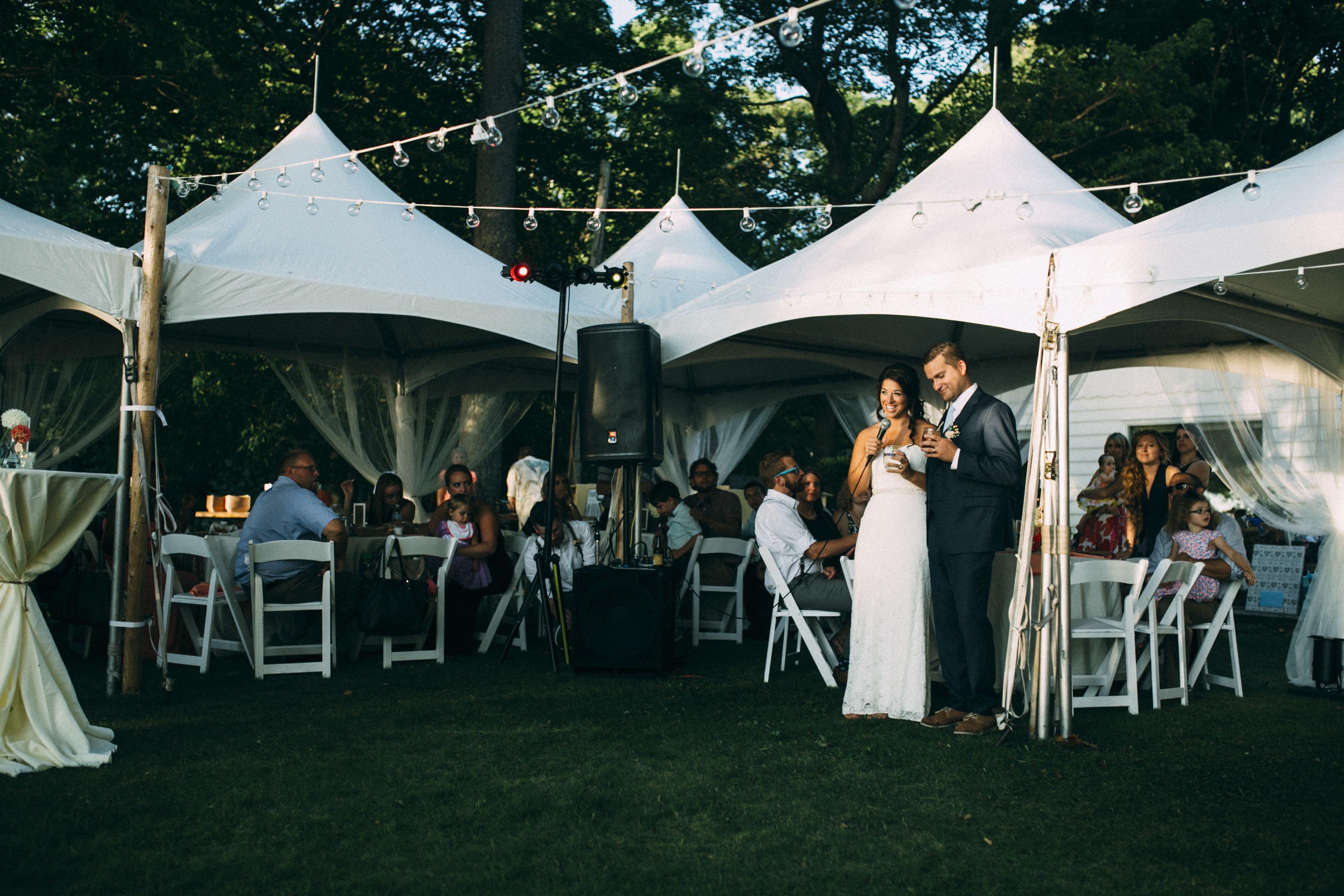 Unique tent arrangement We love it for this summer 2015 wedding