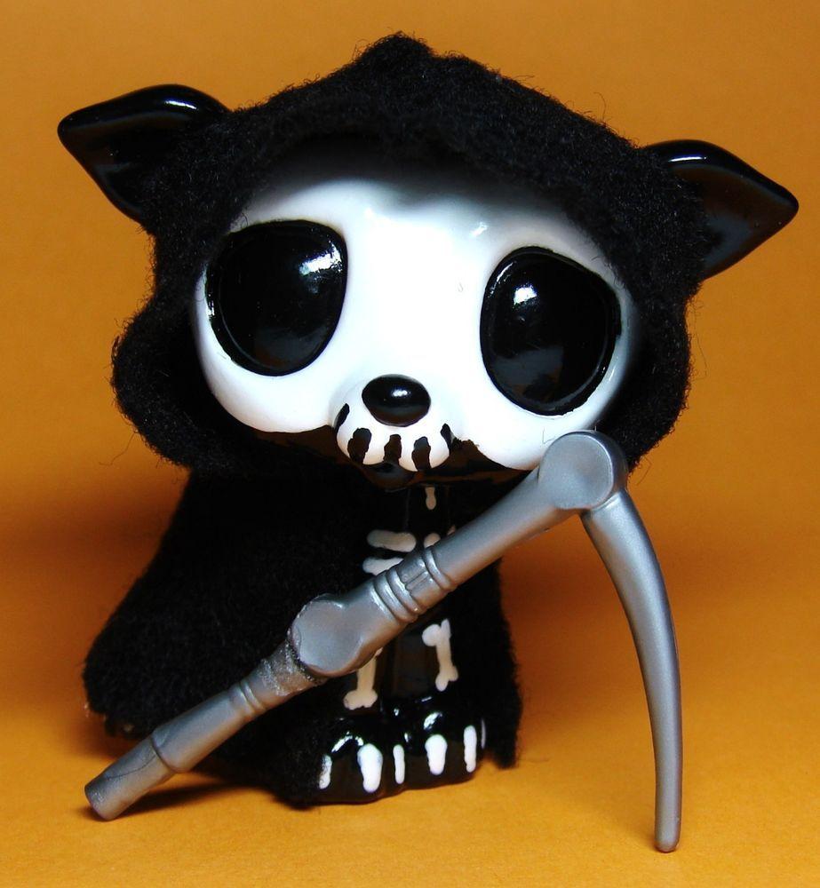halloween skeleton grim reaper ooak hand painted custom littlest pet shop lps hasbro