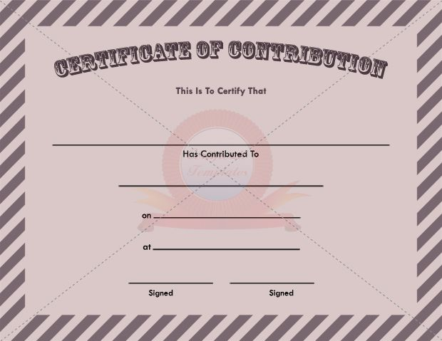 Contribution Certificate Template CONTRIBUTION CERTIFICATE - best of donation certificate template