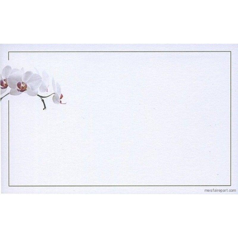 Carte De Remerciement Dcs BUROMAC 670121 Orchide Papier Bristol Blanc 200gr Format 135x85 Mm Illustration Visiter