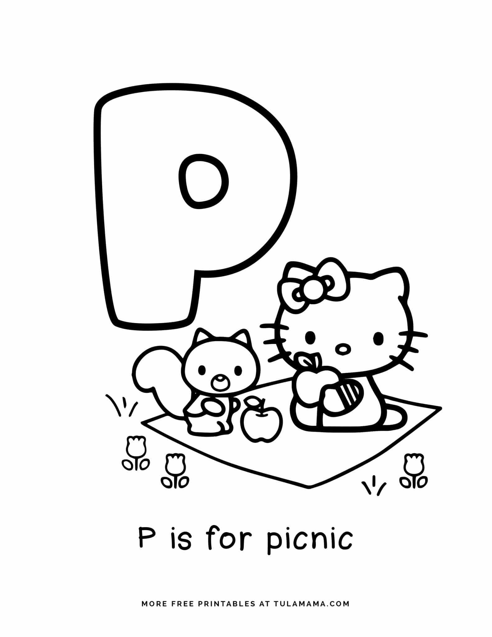 Free Hello Kitty Printables And Abc Coloring Pages In 2021 Hello Kitty Printables Hello Kitty Colouring Pages Abc Coloring Pages