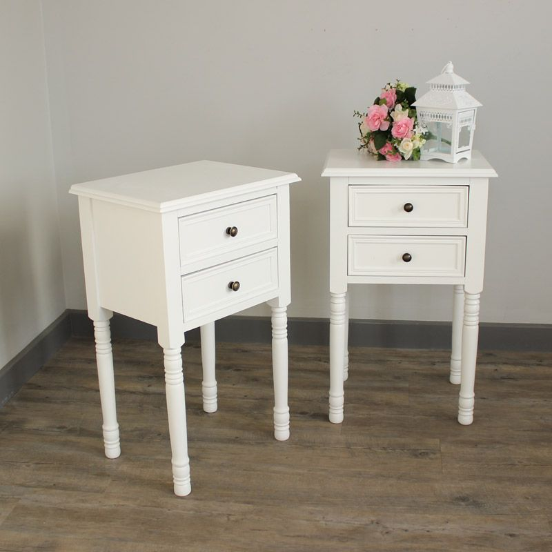 Eliza White Range Furniture Bundle, Pair of Two Drawer