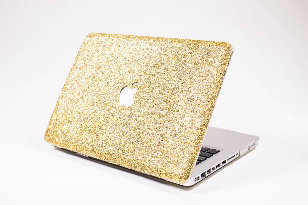 Glitter Macbook Case Gold