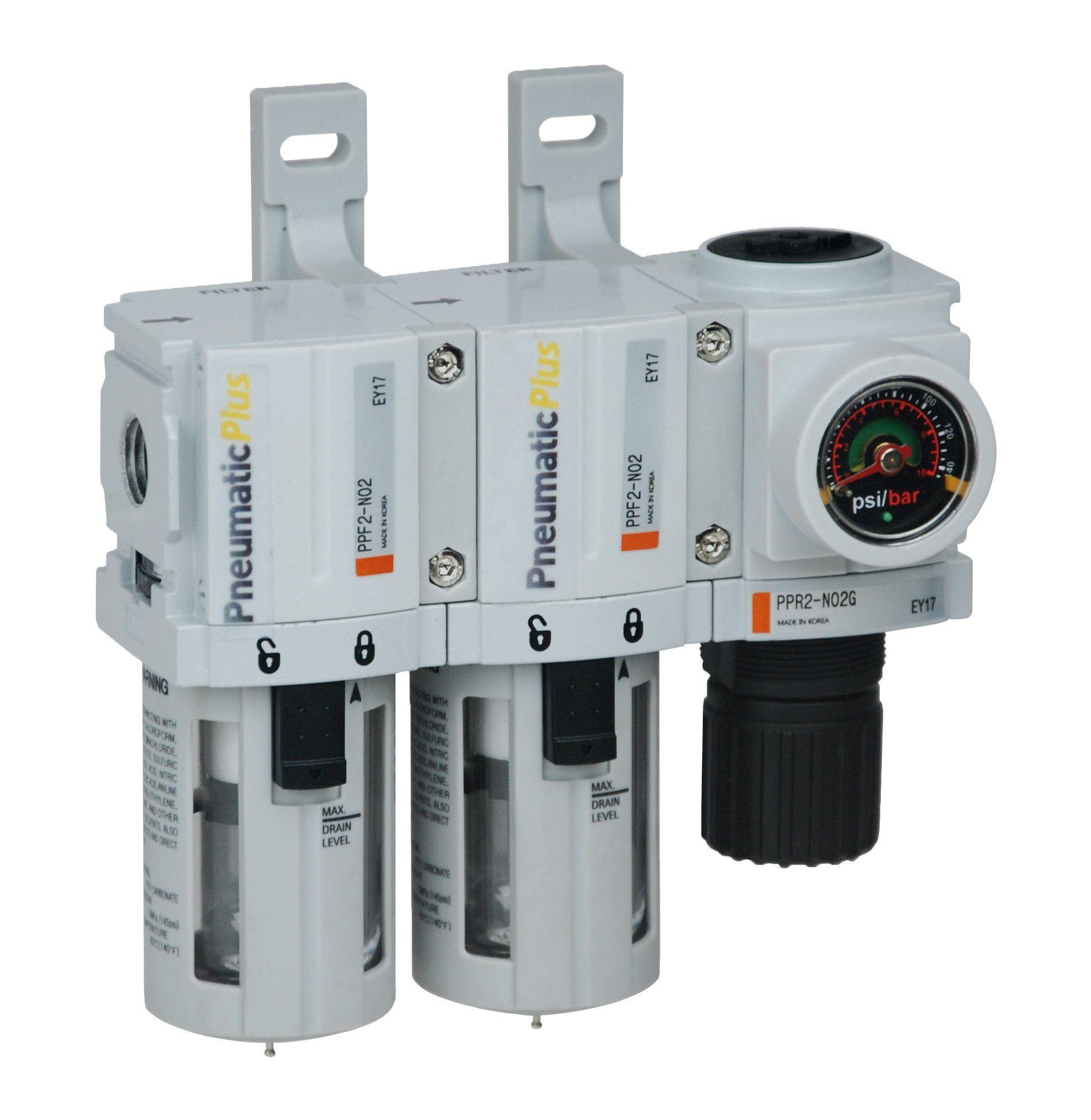 PneumaticPlus PPC2CN02DG Mini Three Stage Air Drying