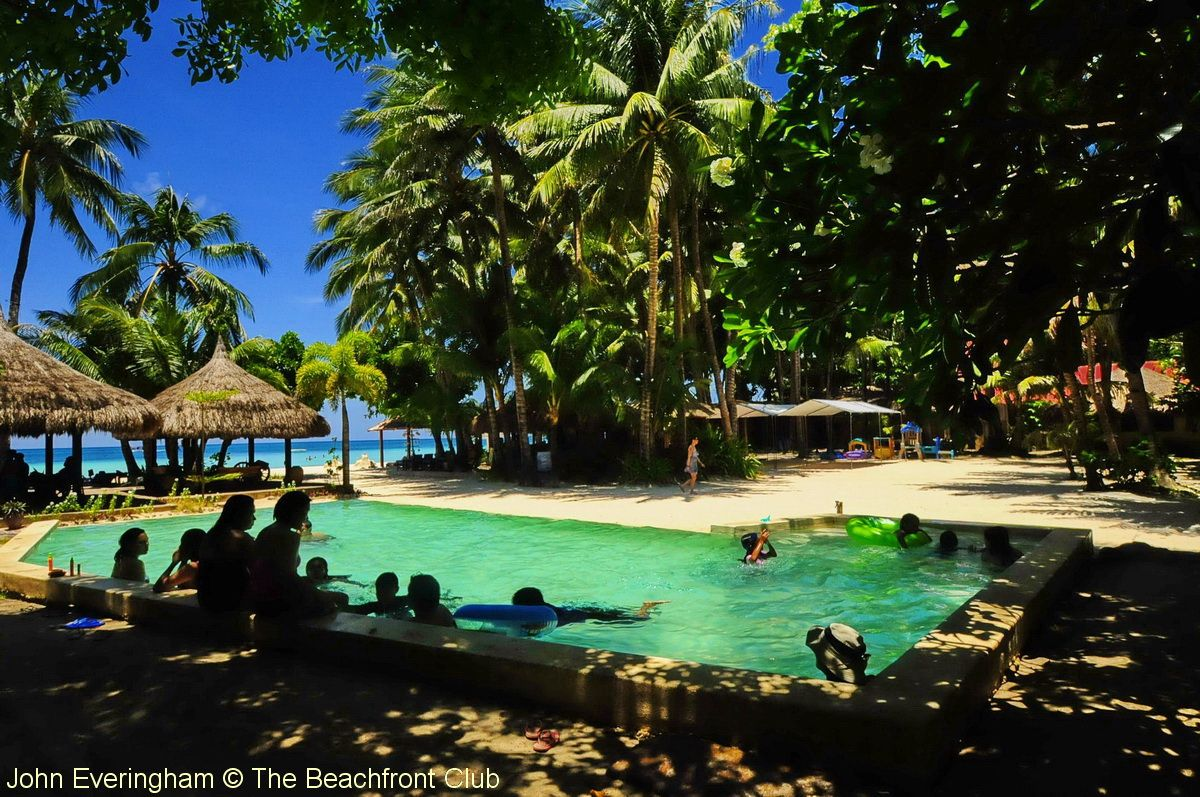 White Beach, Boracay, Philippines; the swimming pool at Sea Wind ...