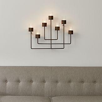 Tealight Candle Holder Wall Decor Metal Frame With 4 Glass Votives Tea Lights Tea Light Holder Wall Scones