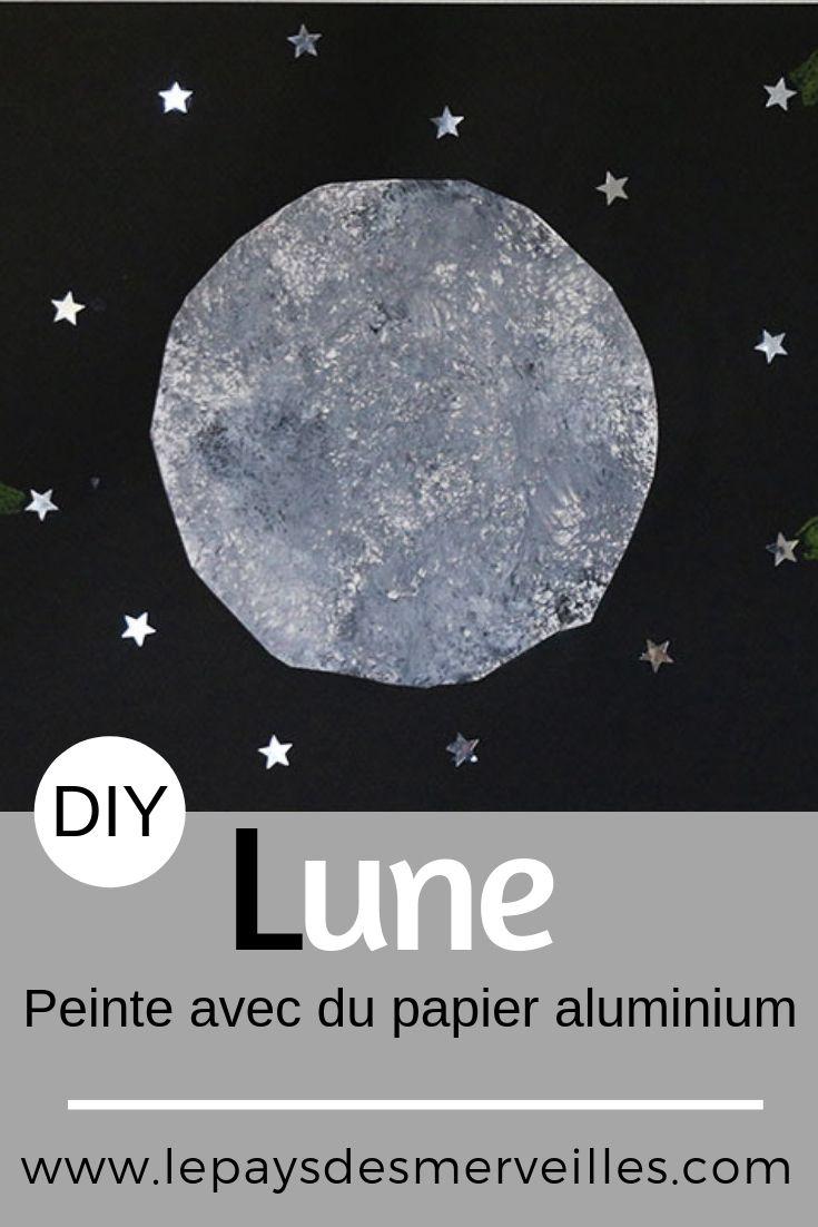 Activité Manuelle Avec Du Papier Peint peindre la lune avec du papier aluminium | activité manuelle