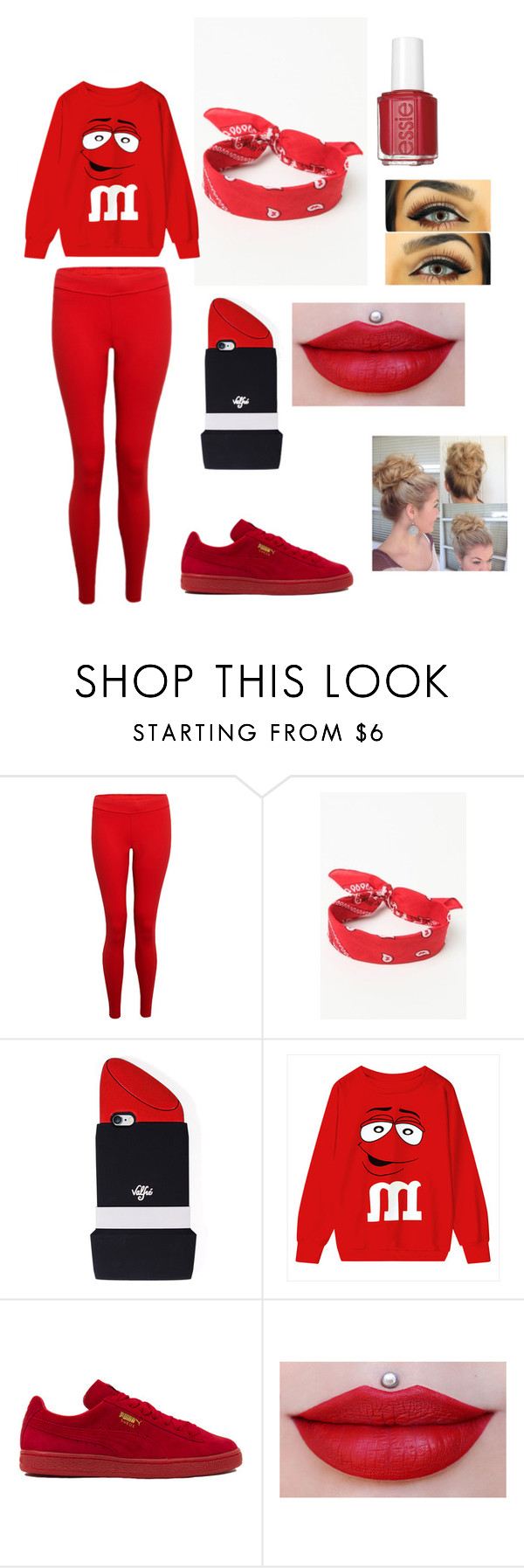 """""""Memorial Colors"""" by photogrpahyphreak on Polyvore featuring Hey Jo, LA: Hearts, Valfré, Puma and Essie"""