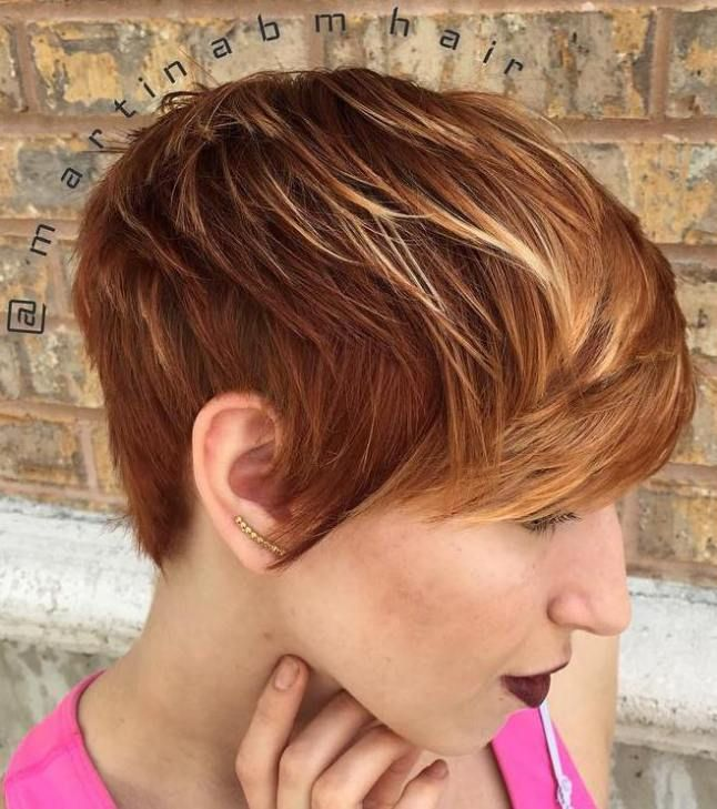 Short Red Hair With Blonde Highlights Best Short Hair Styles
