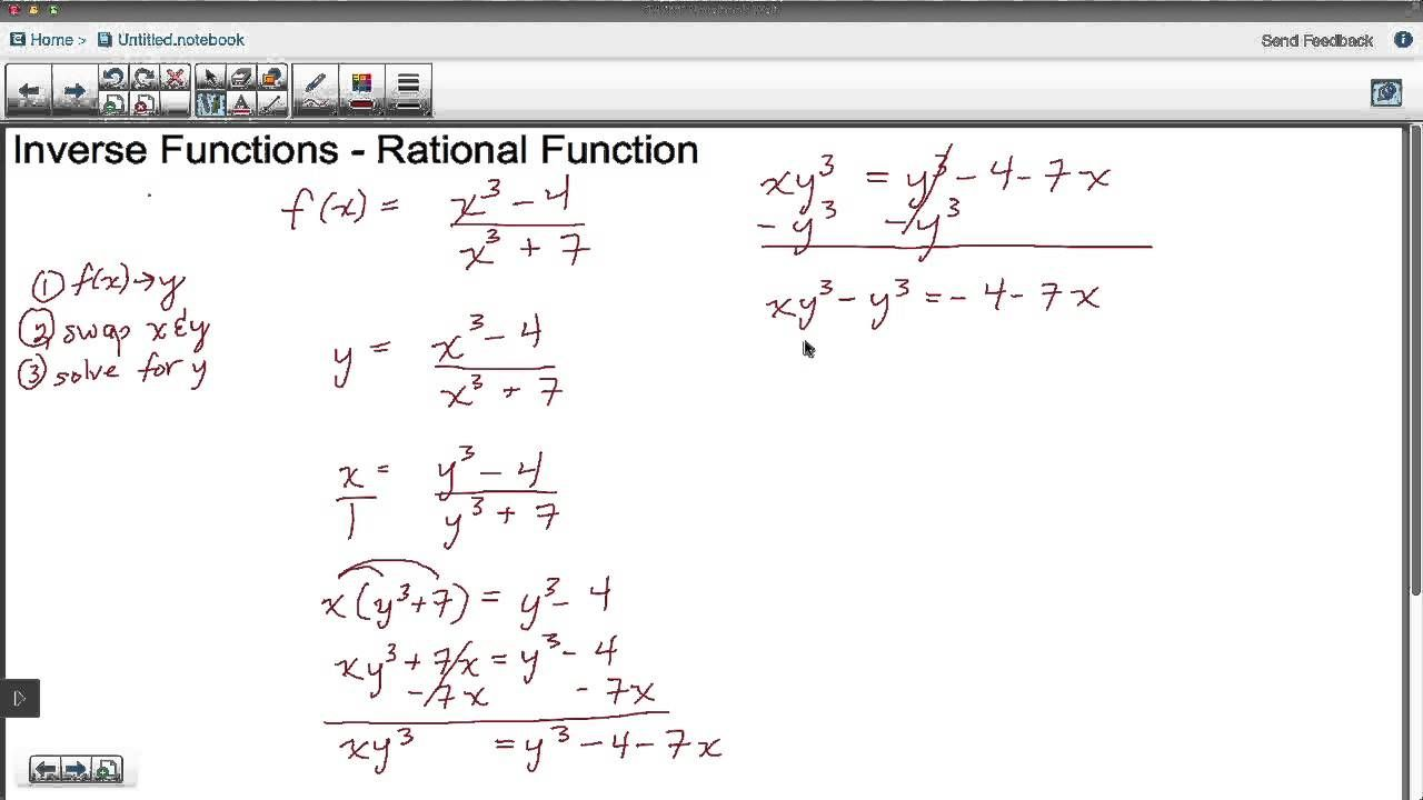 In This Tutorial We Learn How To Derive The Inverse Of A Rational One To One Function Inverse Functions Rational Function Calculus [ 720 x 1280 Pixel ]