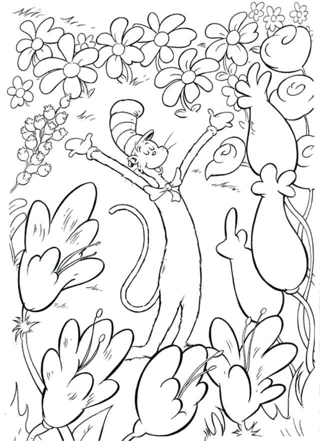 Dr Seuss Coloring Pages Cat In The Hat Coloring Pages Images ...