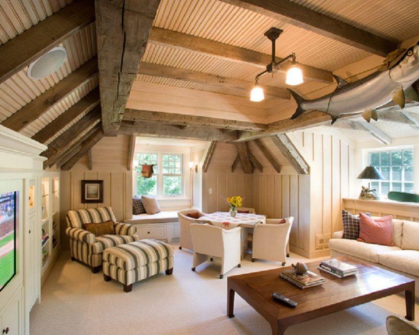 superb living room in home attic design | amazing attic living room ideas | Attic | Bonus room ...