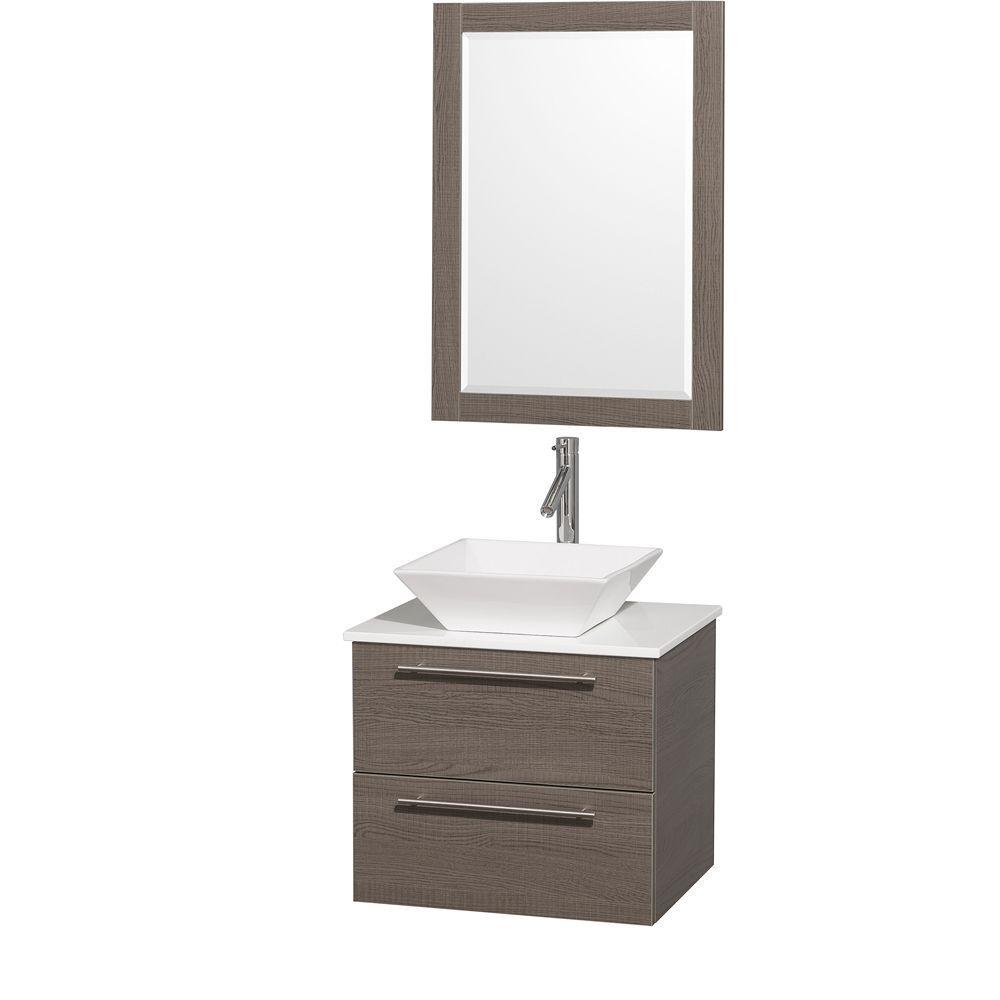 Beautiful Modern Gray Bathroom Vanity