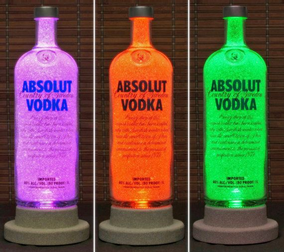 absolut vodka color changing led bottle lamp remote. Black Bedroom Furniture Sets. Home Design Ideas